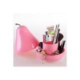 Forma De La Pera Organizador De Escritorio (rosa) Por Helenc