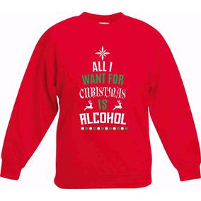 Sudadera Navidad Christmas Alcohol Envío Gratis