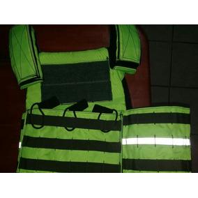 Chaleco Porta Placa Verde Fluorescente Multiproposito