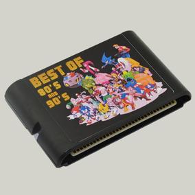 Cartucho Mega Drive 123 Com 196 Jogos Em 1 Multi Games