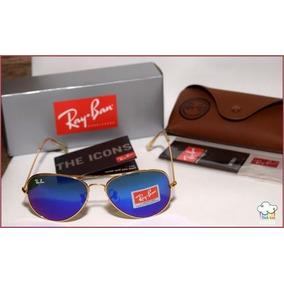 Óculos Ray Ban Aviador Com Lente Azul Espelhada De Sol - Óculos no ... 6dfd0f677b