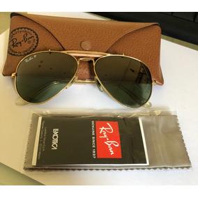 Óculos De Sol Ray Ban Aviador   Caçador Dourado Rb 3030 - Óculos no ... 5e6ddda591