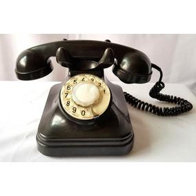 Telefone Antigo Preto Adaptado E Funcionando Baquelite