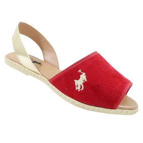 Sandália Avarca Polo Ralph Lauren Vermelha