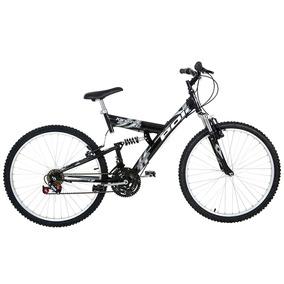Bicicleta Full Suspension Kanguru Aro 26 Polimet - Preta