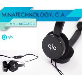 Audífonos Estéreo C/micrófono Au-600 Marca Gio Conecte Y Use