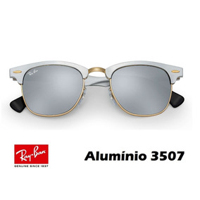 0dc81e4ec896c Óculos Ray Ban Clubmaster Alumínio 3705 Original C  Garantia