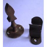 C0023 Trava Para Porta Residencial Em Bronze, Em Ótimo Esta