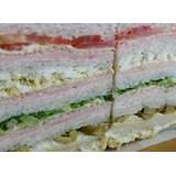 Sandwich De Miga Triples X48u Eventos6x9cm. Envíos.