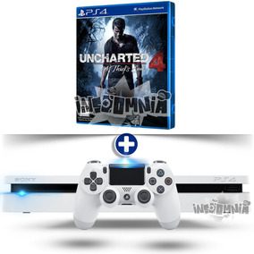 Ps4 Slim 500gb Branco + Uncharted 4 + Pes 2019 + 2 Controles