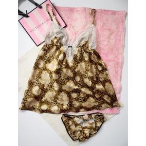 Victorias Secret Lencería Babydoll Deluxe Gold Brilliant S