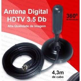 Antena Interna Tv Digital Hdtv Dtv Alta Definição