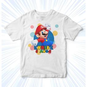 Playeras Mario Bros Fiestas Infantiles Niños Recuerdos