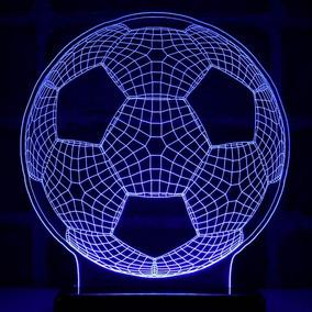 Abajur Bola De Futebol 3d - Iluminação Residencial no Mercado Livre ... 7e85fabc8de55