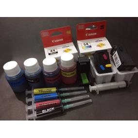 Cartuchos Canon E481-44/54 Recargables+tintas+1purgador,etc.