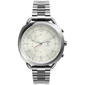 Reloj Unisex Fossil Hybrid Q Smart Watch Plateado Ftw1202