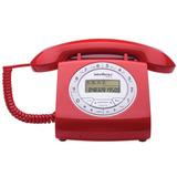Telefone Retro Com Fio Intelbras Tc8312 Vermelho
