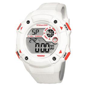 Relógio Technos Inter Oficial Branco Com Vermelho Int1360/8b
