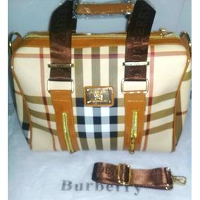 Bolsa Para Dama Burberry Miel/beige