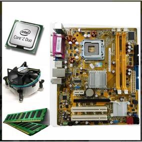 Kit Placa Mãe + Processador Core 2 Duo + Memória + Cooler