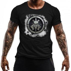 Camiseta Estampada Bope Preto Tática Militar baf9a5c9a10a6