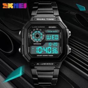Relógio Masculino Retro Skmei 1335 Original Dual Time