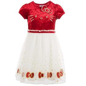Hermoso Vestido Hello Kitty Talla 6 Años Original