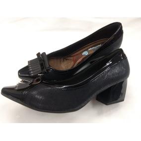 3f526e1a5 Escarpim Scarpin Preto Salto Medio Feminino Piccadilly - Sapatos no ...