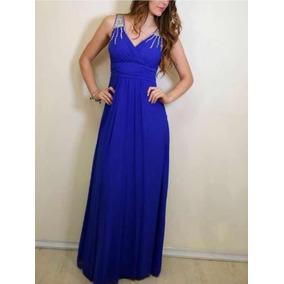 Vestido gala azul