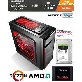 Pc Gamer Ryzen 3 2200g 3.5ghz Vega 8 8gb Ssd 120gb Hd 1tb