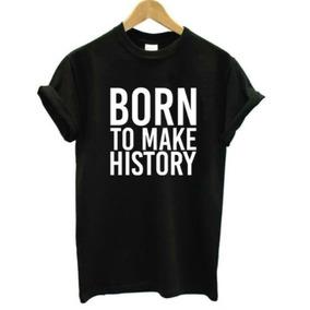 Camiseta Com Frases Em Ingles Camisetas Manga Curta No Mercado