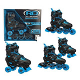 Patins Ajustavel 28 33 Unissex Roler Derby Quad Inline 2in1