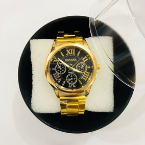 0eb74d1ab04 Relogio Dourado Feminino Algarismos Romano - Relógios no Mercado ...