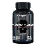 Thermo Flame Termogênico 60comp Caveira Preta - Black Skull