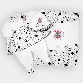 Saída Maternidade Corinthians Super Luxo Oficial Menina