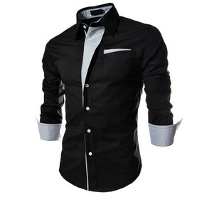 Camisa Social Slim Fit Masculina Estilo Boutique Ocidental