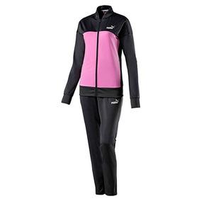 Conjunto Puma Classic Tricot Suit.op 852459-41 Gris Dama Oi