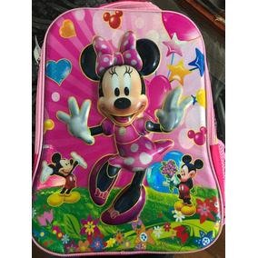 Mochila Escolar Minnie Com Imagem 3d