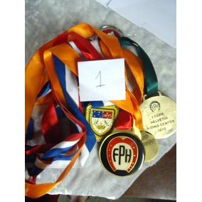 Lote Com 6 Medalhas Esportivas Antigas - Tenho Tres Lotes