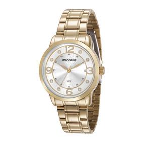 Relógio Feminino Mondaine Rose Com Strass - Joias e Relógios no ... 69e9474526