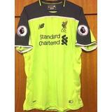 49b564b5f1 Camisa Liverpool 2016 17 Lallana  20 Uniforme 3 Completa