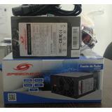 Fuente De Poder Speedmind Para Desktop Atx 600w 24p + 4 Pin