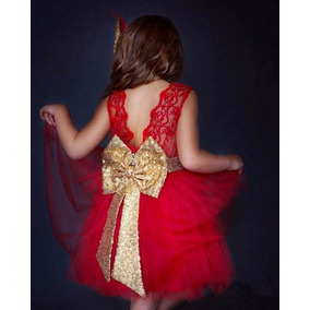 Vestido Bebe Niña Moño Lentejuela Fiesta Envió Gratis