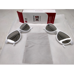 Oculos 3d Passivo Kit 2  branco  Lg-ebx61669401 - Original ! 008d7401b5