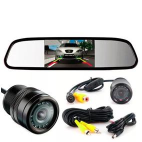 Espelho Retrovisor Monitor + Câmera De Ré Colorida Noturna