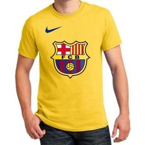 Camisa Do Barcelona Laranja E Amarela Camisetas Sem Mangas ... 86118e76c6c66