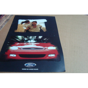 Poster Cartaz Foto Catalogo Distribuidor Ford Escort 2000