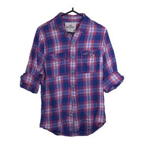 Camisa Hollister A Cuadros Nueva Con Etiquetas