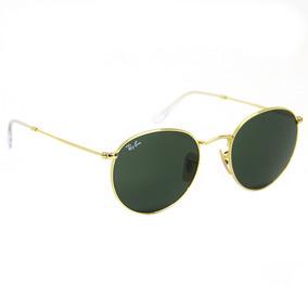 Óculos De Sol Ray Ban Round Metal Espelhado Prata 3447 0666fac96c