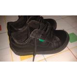 Zapato Colegial Escolar Negro Niño Kickers